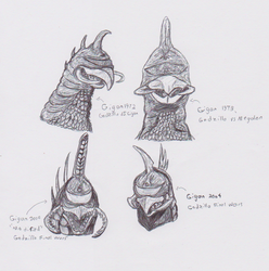 The 4 Faces Of Gigan by Dinomorph5000