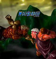 Asura vs Evil Ryu by WOLFBLADE111