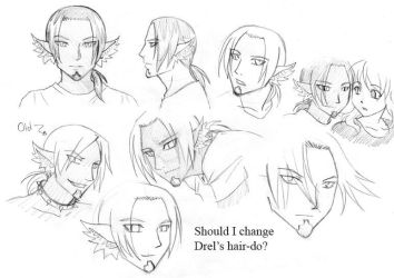 Change of hairstyle for Drel? by Aeonna