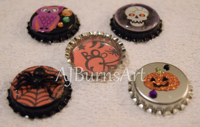 Adorable Cute Halloween Magnets for October by AJBurnsArt