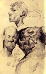 Another Sketchbook Page by MikeAzevedo
