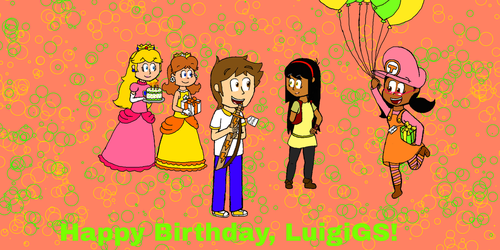 Happy Birthday, LuigiGS! by SuperToni14