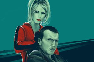 Ninth Doctor and Rose Tyler by KiloWhat