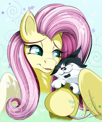 MLPortrait: Fluttershy w/ Chaplin (Commission)