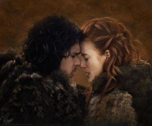 Jon and Ygritte by Liancary-art