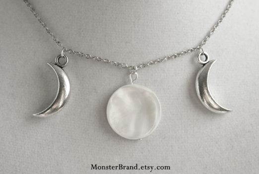 Moon Phase Necklace by MonsterBrandCrafts