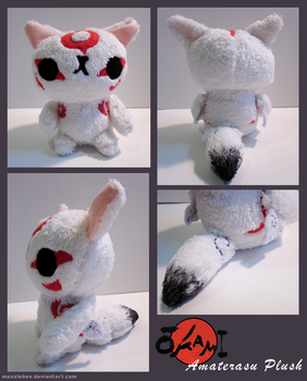 Amaterasu Plush + SOLD + by Mazzlebee