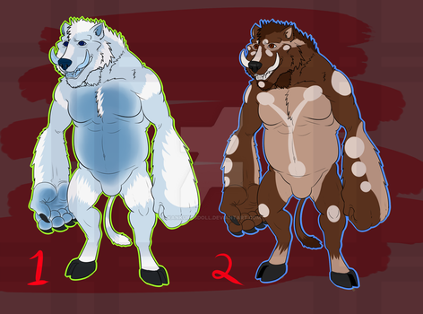 [ADOPTS] Bearboar Buds! [2/2 OPEN] by kankurosdoll