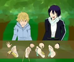 request: yato and yukine stocks tickled by alan-underfoot