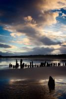 Youghal Beach Sunset by SewerRar