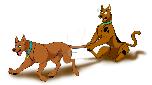 Don't hold me back, uncle Scooby! by Cynderthedragon5768