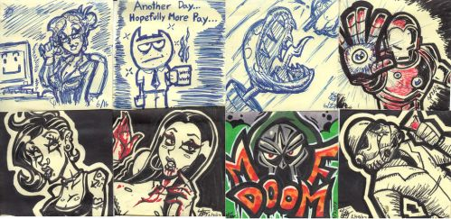 Sticky Note Doodles by hooksnfangs
