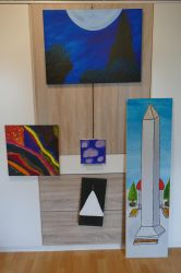 Old Paintings from primary and secondary School by Qube-Core