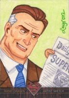 'Superman: The Legend' sketch card - Perry White by DeJarnette