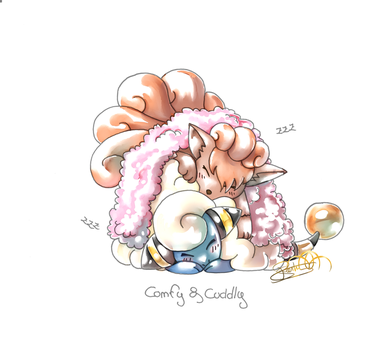 Pokemon : Comfy and Cuddly by Andromeda-Aries