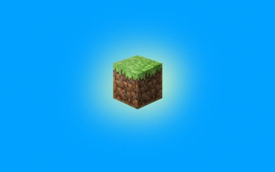 Minecraft Grass Logo Wallpaper by LynchMob10-09