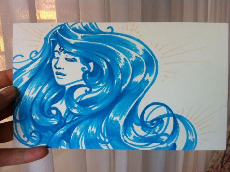 The curly-blue by Maaiker