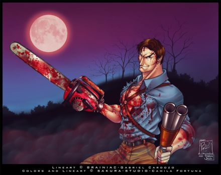 Ash Williams-Collab by CamiFortuna