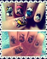 Fiona, Cake, And Friends! Adventure Time Nails 3 by CutieXinfinitie
