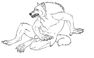 Werewolf Lineart by TheSodaSmuggler