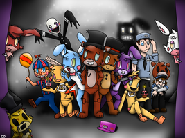 [FNAF1,2 and 3] We're all Together ... Again ... by ClemDouDou