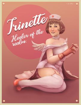 Trinette pinup by B-side7715