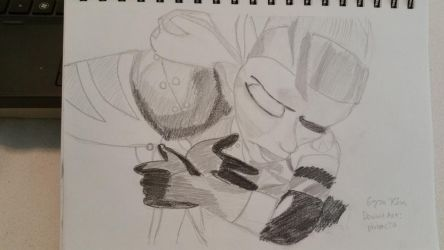 Ratchet and Talwyn hugging by photons20
