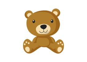 Teddy Bear Flat Vector by superawesomevectors