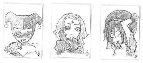 Sketch Cards from Otakon'13 by itlived