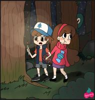 Dipper and Mabel Pines by Alicexandy