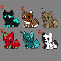 Pup Adoptables-OPEN by Lauruth