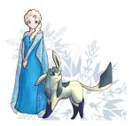 Queen Elsa and Glaceon