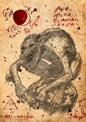 The Gules- Page of the necronomicon by Jagoba