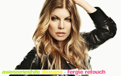fergie retouch by awesomestyle