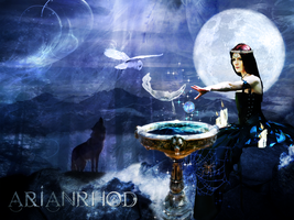 Arianrhod Silver Wheel by wintersmagic