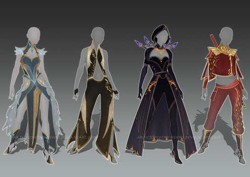 (CLOSED) - Female Outfit Adoptable Set #013 by Timothy-Henri