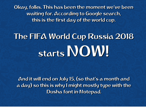 FIFA World Cup Russia 2018 Starts NOW! by DLEDeviant