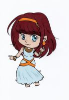 Chibi Ancient Egypt Colored by Maiko-Girl