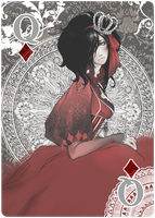 Queen of Diamonds Nouveau by jaisamp