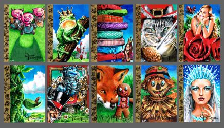 Fairy tale trading cards by Kapow2003