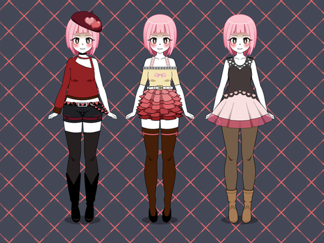 Kisekae | Female Valentines Day Inspired Outfits by teto414