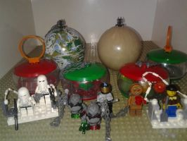 MOC Lego Christmas Ornaments by sideshowOfMadness
