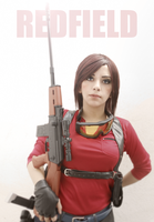 Claire Redfield sniper cosplay by CodeClaire
