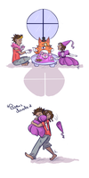 Little Foxy Tea Party by SquirrelKitty76