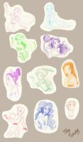 Disney sketches I by ThEsIlKe