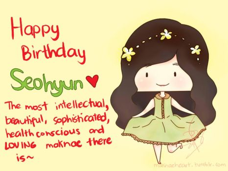 Happy Birthday Seohyun by maknaeheart