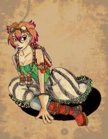 Steampunk girl trade with ajlovescaty by FiaFreckles