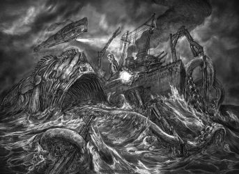Naval Battle by Keithwormwood