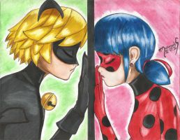 Distance Between Chat Noir and Ladybug by MariAngel-Art