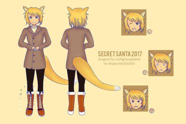 [Secret Santa] Character Reference Sheet by cutelightangel